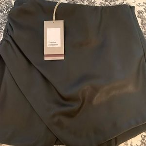Zara Faux Leather Wrap Skirt NWT
